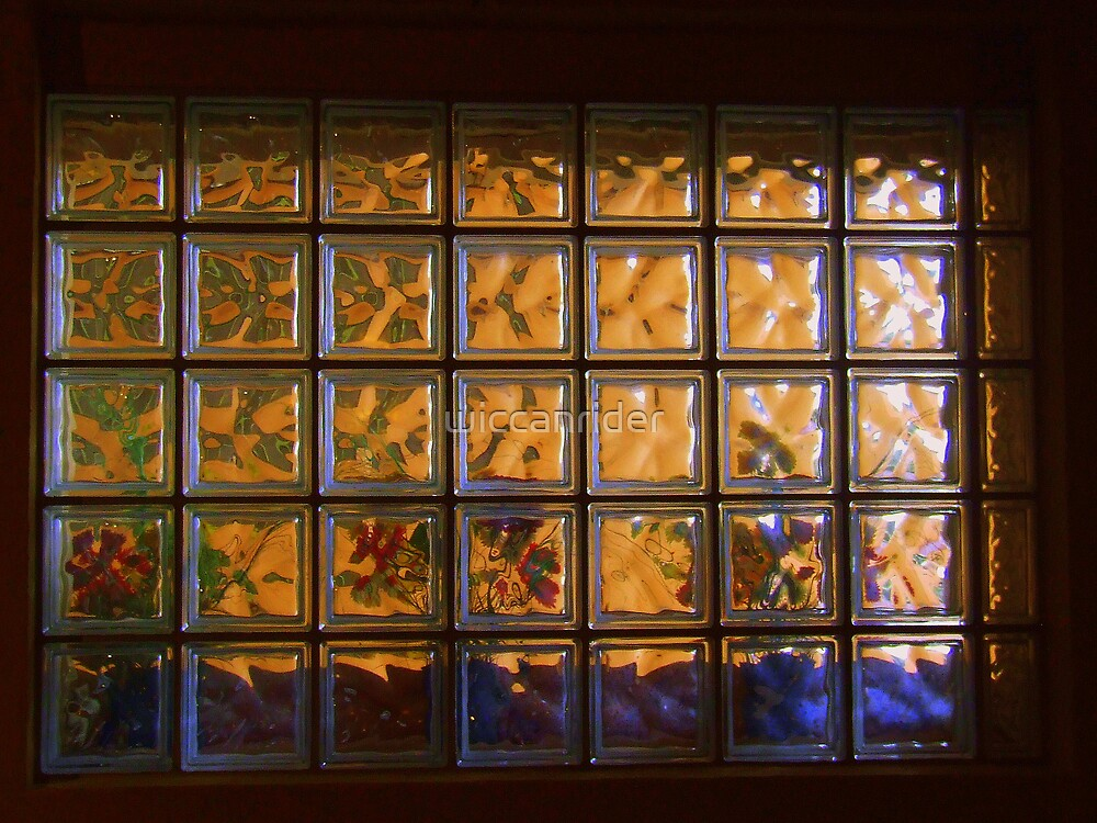 Through The Glass Brick Window by wiccanrider