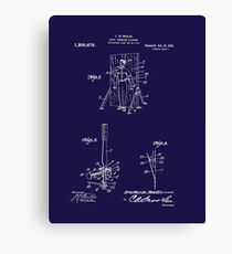 1916 Magician's Knife Throwing Illusion Patent Art Canvas Print