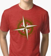Live by the compass, not the clock Tri-blend T-Shirt