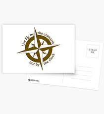 Live by the compass, not the clock Postcards