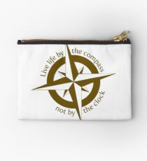 Live by the compass, not the clock Studio Pouch