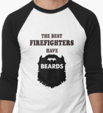 Camiseta ¾ bicolor para hombre bombero con barba d9711562efc4d