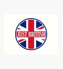 Just British Motoring Magazine Round Logo Art Print