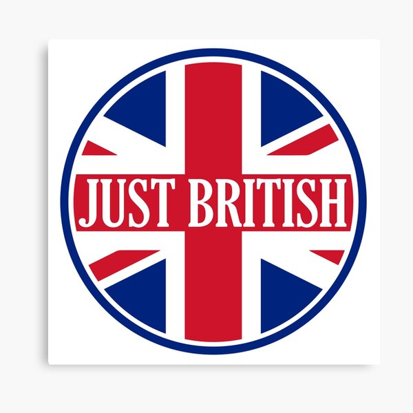 Just British Motoring Magazine Round Logo Canvas Print