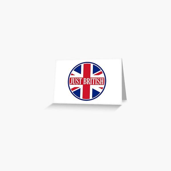 Just British Motoring Magazine Round Logo Greeting Card