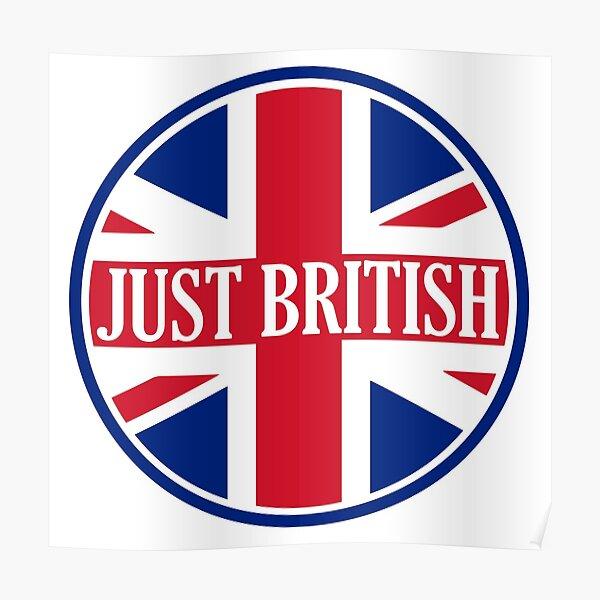Just British Motoring Magazine Round Logo Poster