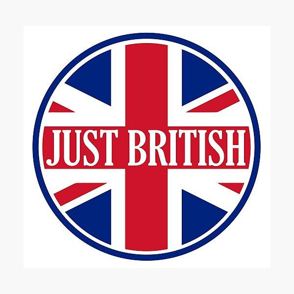 Just British Motoring Magazine Round Logo Photographic Print