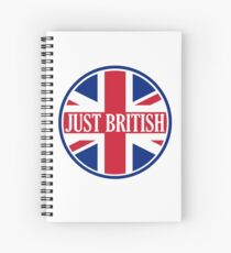 Just British Motoring Magazine Round Logo Spiral Notebook
