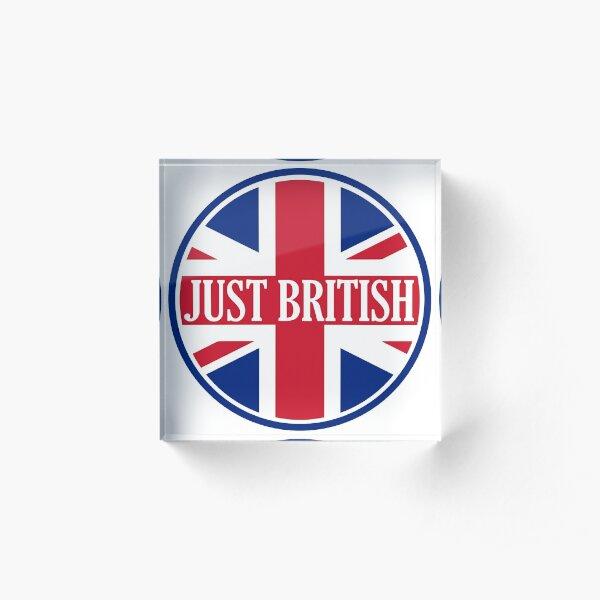 Just British Motoring Magazine Round Logo Acrylic Block
