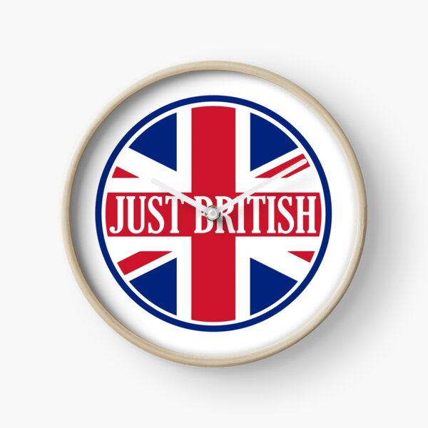 Just British Motoring Magazine Round Logo Clock