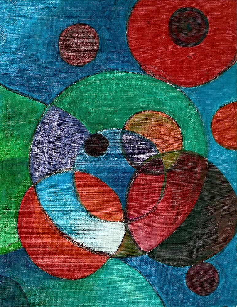 Molecular #3 (Acrylics)- by Robert Dye