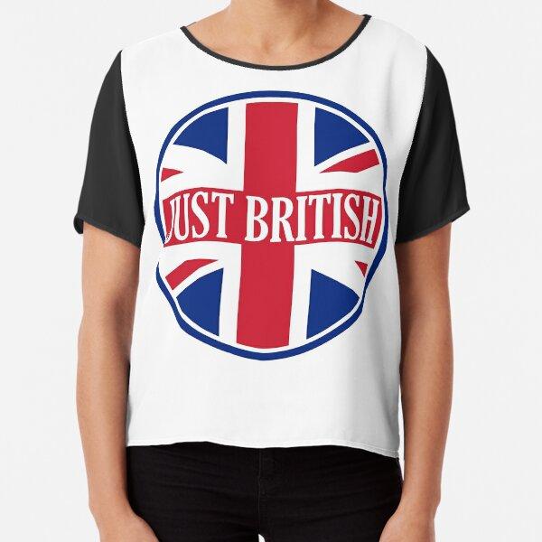 Just British Motoring Magazine Round Logo Chiffon Top