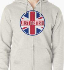 Just British Motoring Magazine Round Logo Zipped Hoodie