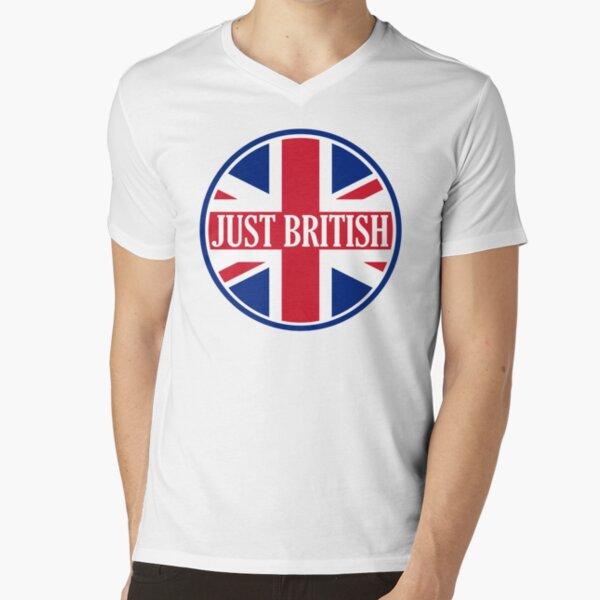 Just British Motoring Magazine Round Logo V-Neck T-Shirt