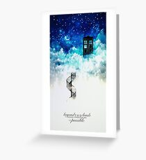 Beyond the clouds Greeting Card