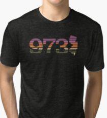 973 New Jersey Sunset Gradient Tri-blend T-Shirt