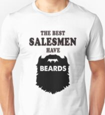salesman with beards, sales man bearded selling gift t shirt T-Shirt
