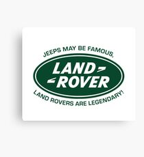 Land Rovers are Legendary Canvas Print