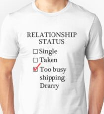 Relationship Status - Too Busy Shipping Drarry Unisex T-Shirt