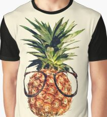 Pineapple with glasses, retro style Graphic T-Shirt