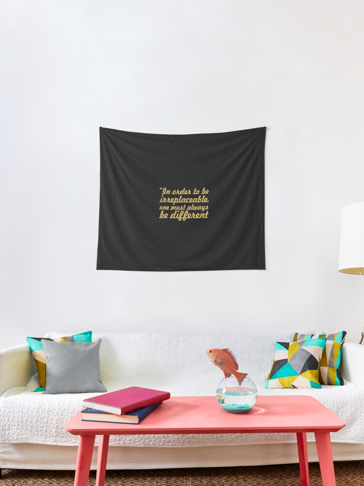 In Order To Be Coco Chanel Inspirational Quote Tapestry By Powerofwordss Redbubble