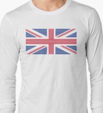 Tire track Union Jack British Flag Long Sleeve T-Shirt