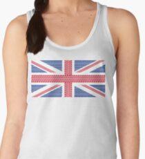 Tire track Union Jack British Flag Women's Tank Top