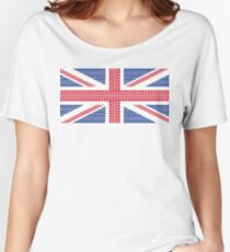 Tire track Union Jack British Flag Women's Relaxed Fit T-Shirt