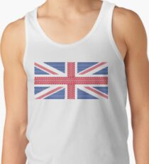 Tire track Union Jack British Flag Tank Top