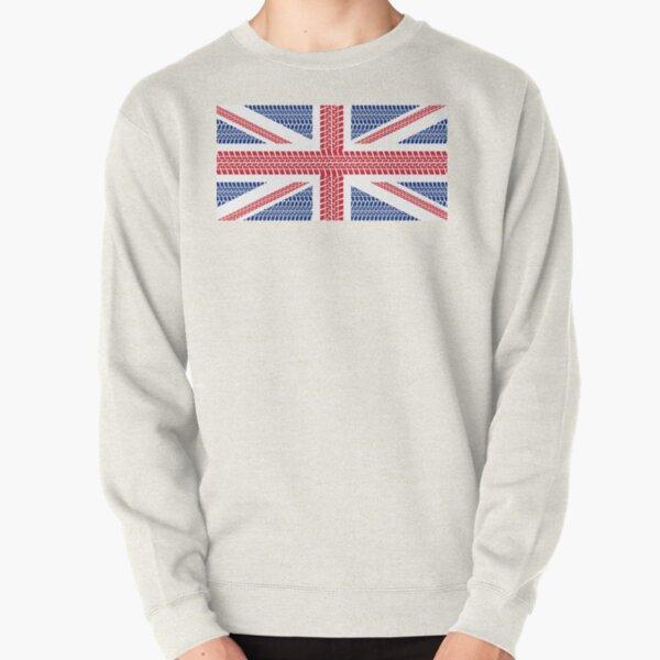 Tire track Union Jack British Flag Pullover Sweatshirt