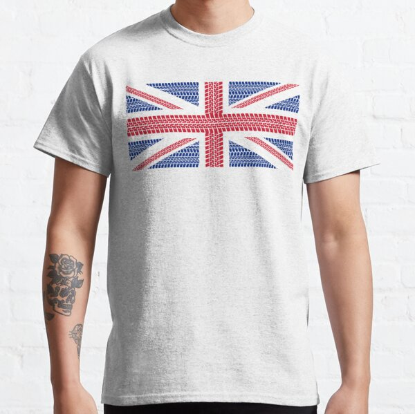 Tire track Union Jack British Flag Classic T-Shirt