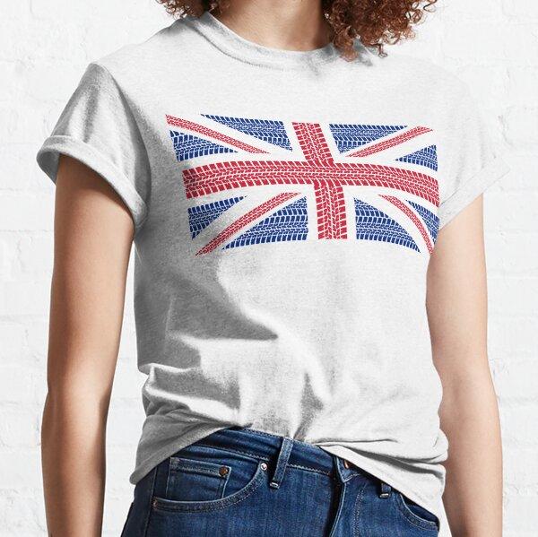 Tire track Union Jack British Flag Classic T-Shirt