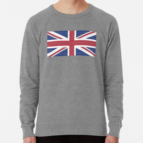 Tire track Union Jack British Flag Lightweight Sweatshirt