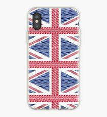 Tire track Union Jack British Flag iPhone Case