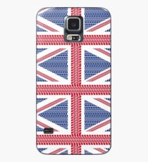 Tire track Union Jack British Flag Case/Skin for Samsung Galaxy