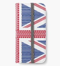 Tire track Union Jack British Flag iPhone Wallet/Case/Skin