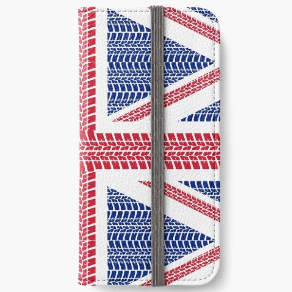 Tire track Union Jack British Flag iPhone Wallet