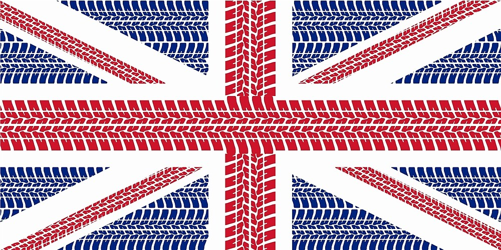 Tire track Union Jack British Flag by JustBritish