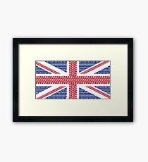 Tire track Union Jack British Flag Framed Print