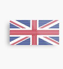 Tire track Union Jack British Flag Metal Print