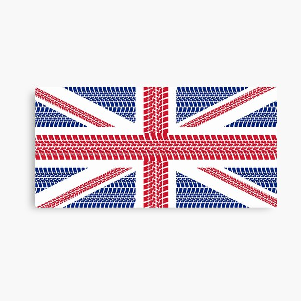Tire track Union Jack British Flag Canvas Print