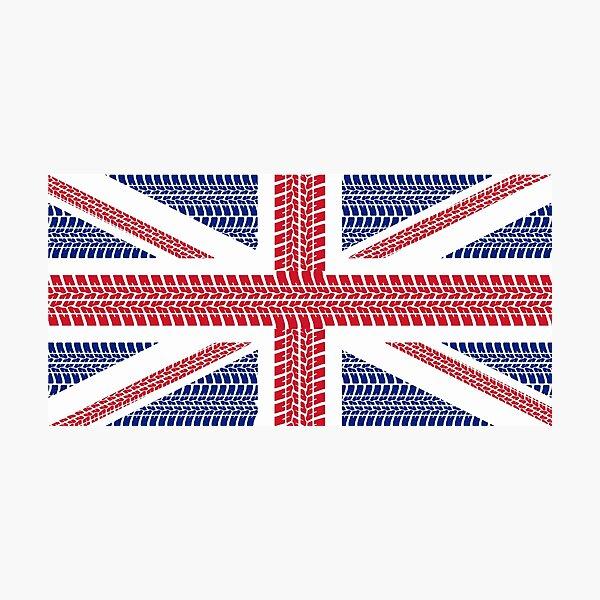 Tire track Union Jack British Flag Photographic Print