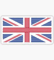 Tire track Union Jack British Flag Sticker