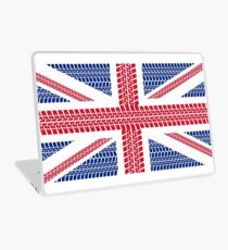Tire track Union Jack British Flag Laptop Skin
