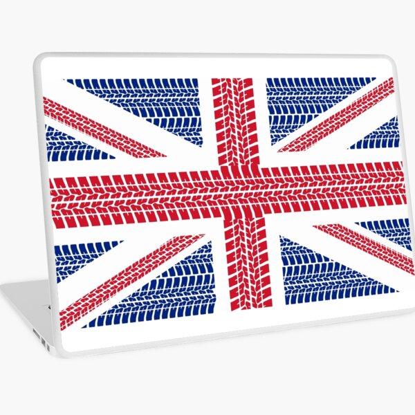 Tire track Union Jack British Flag Laptop Skin
