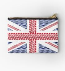 Tire track Union Jack British Flag Studio Pouch