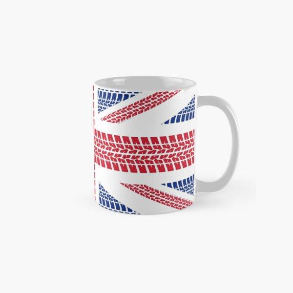 Tire track Union Jack British Flag Classic Mug