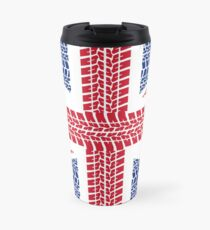 Tire track Union Jack British Flag Travel Mug