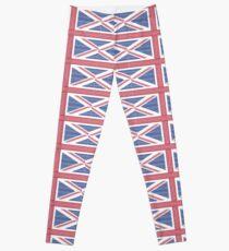 Tire track Union Jack British Flag Leggings