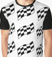 Checkered racing flag, seamless pattern Graphic T-Shirt
